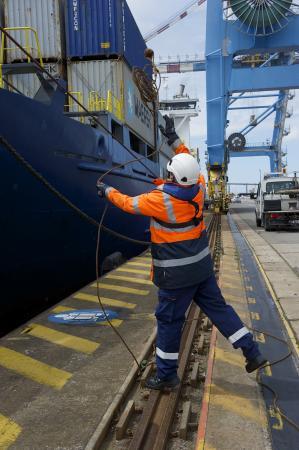 Lamaneur sur le port de montoir-de-Bretagne